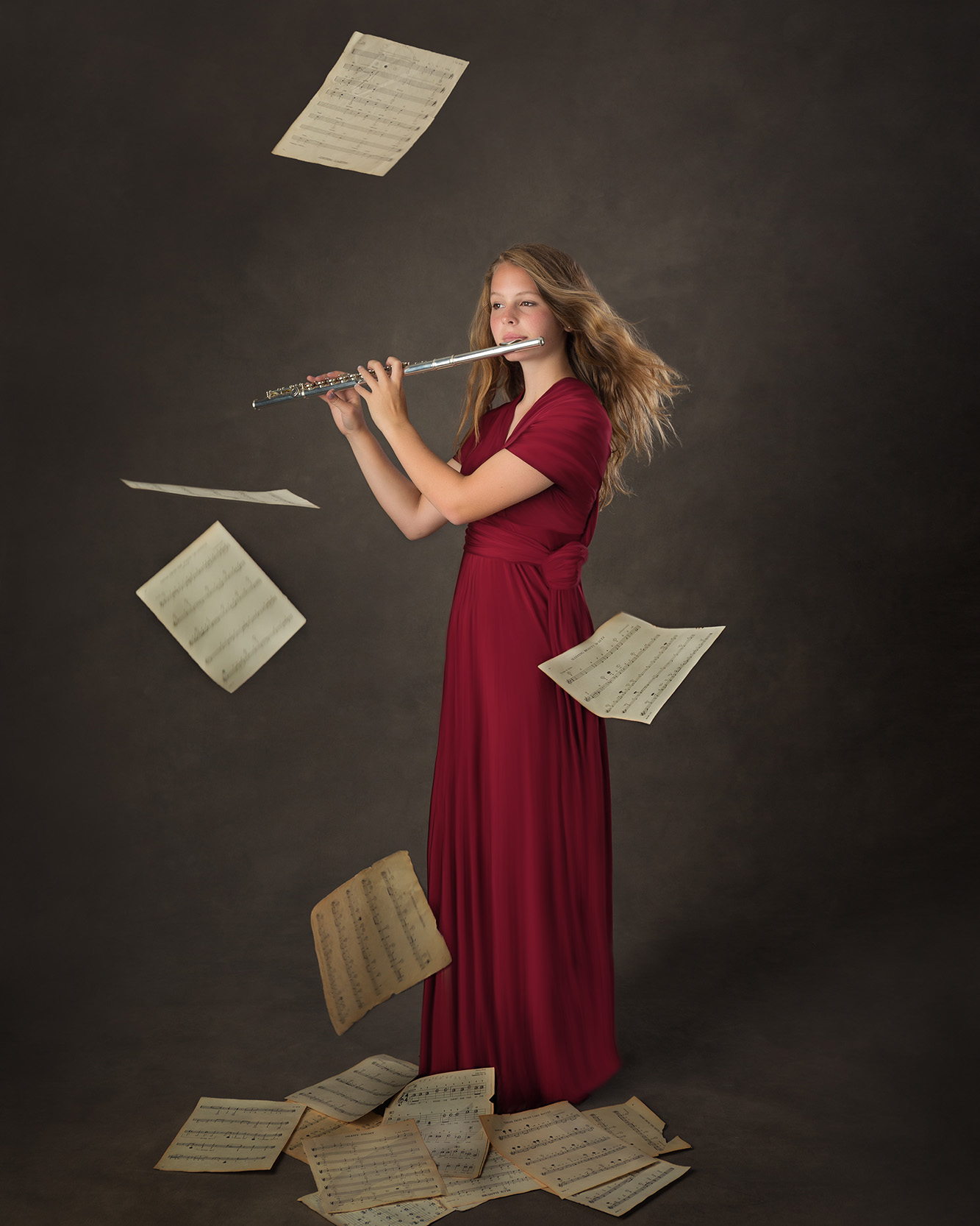 West Valley Senior Photos Girl Woodwind Flute Music